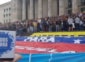 Venezolanos en Buenos Aires rechazan el fraude electoral