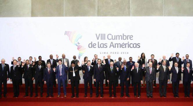 Concluyó la Cumbre De Las Américas con pronunciamiento del Grupo De Lima sobre Venezuela