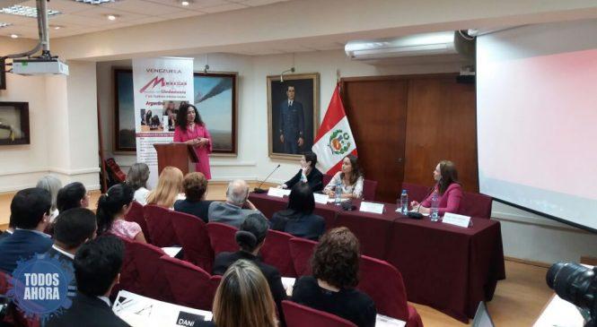 La Mujer Venezolana Exige Justicia En El Congreso Peruano Previo a LA CUMBRE DE LAS AMÉRICAS