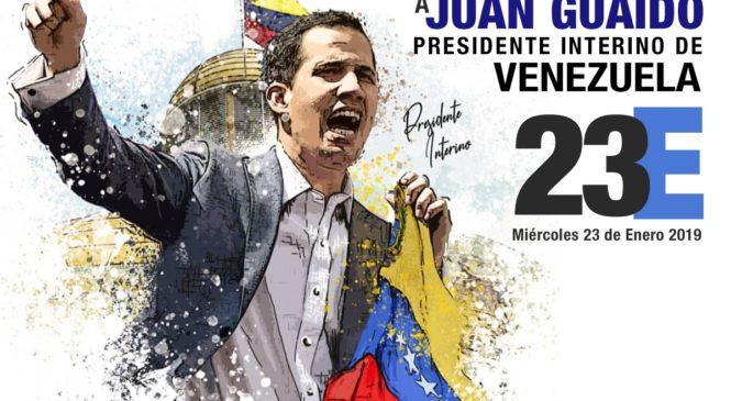 Manifestación Mundial en Apoyo a Juan Guaidó  como Presidente Interino de Venezuela
