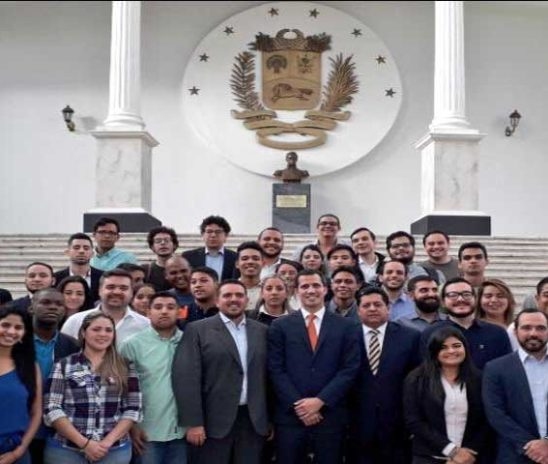 Juan Guaidó se reunió con los líderes estudiantiles de Venezuela