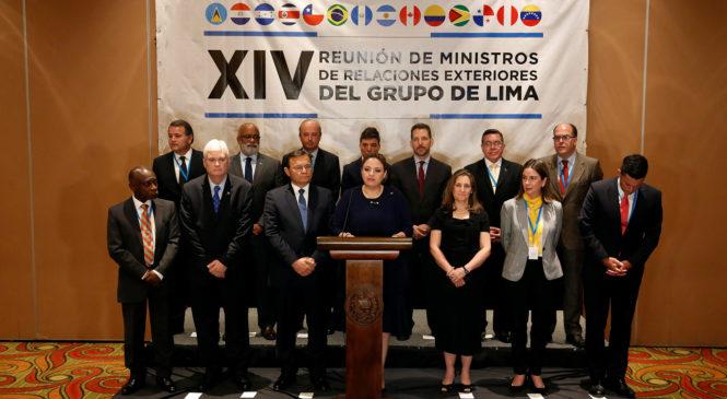 Grupo de Lima se reunirá para establecer sanciones contra el régimen de Maduro