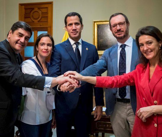Guaidó se reunió con el Partido Popular de España y estos le ofrecieron su apoyo