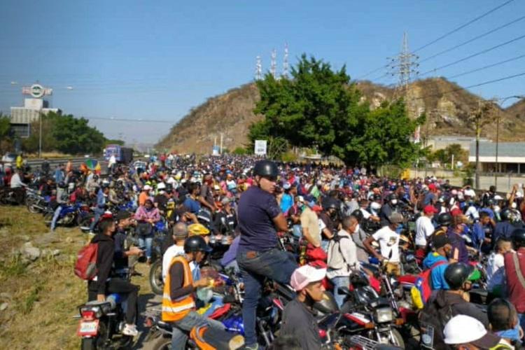 Motorizados en Carabobo