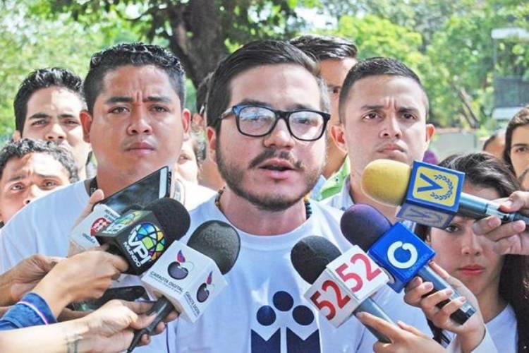 Marlon Díaz, presidente de la Federación de Centros Universitarios de la Universidad de Carabobo