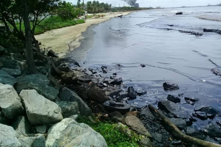 Derrame de hidrocarburos / Foto Cortesía