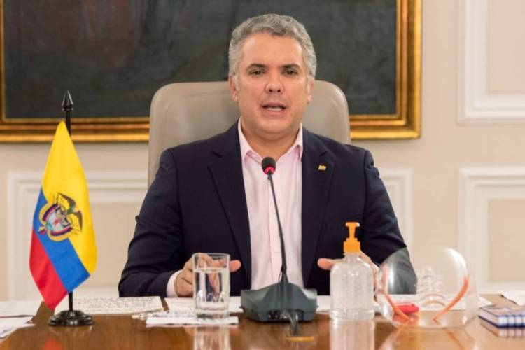 Presidente de Colombia, Iván Duque. Foto: EFE