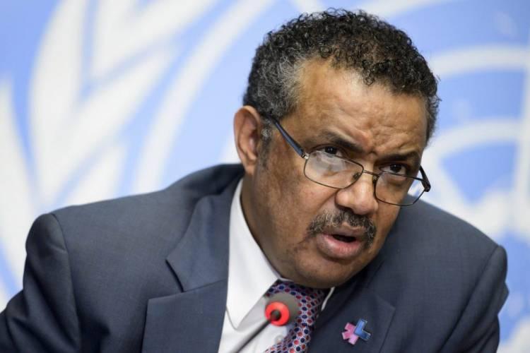 Tedros Adhanom, director general de la OMS, jefe de la OMS