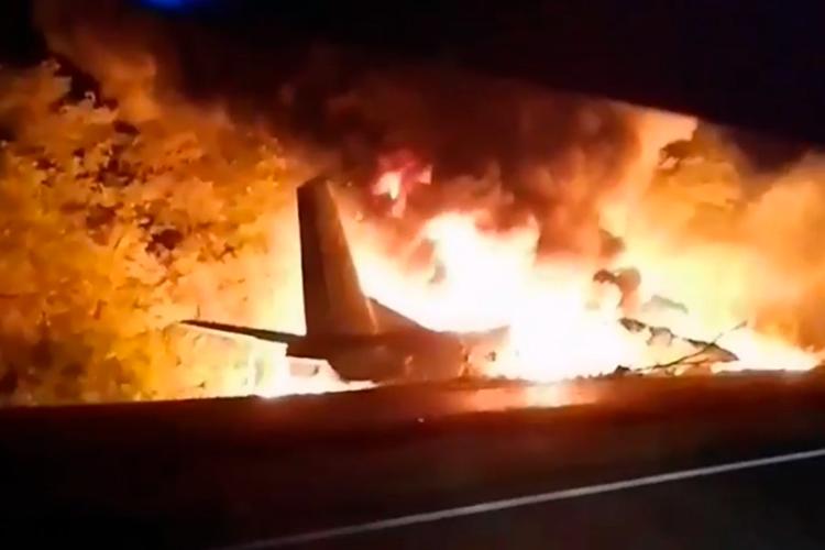 Avión militar se estrelló en Ucrania / Foto Cortesía