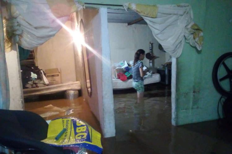 Hogares inundados al sur de Valencia