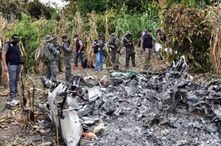 Imagen cortesía. Se estrelló aeronave en Guatemala proveniente de Venezuela