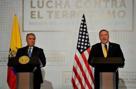 Imagen cortesía. Mike Pompeo se reunió con Iván Duque y hablaron de la situación en Venezuela