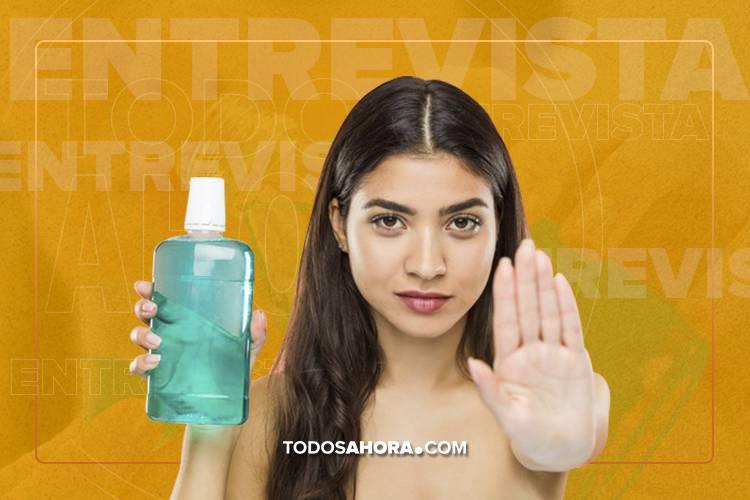 El enjuague bucal para lavados vaginales, un tema que encendió las redes. Foto: Todos Ahora