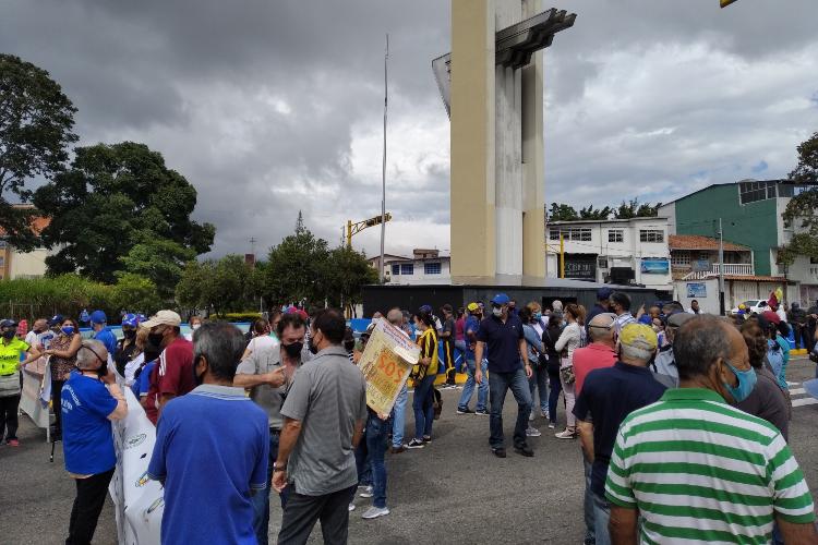 Protesta de maestros en Táchira