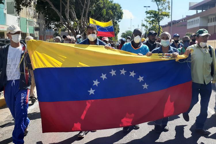 Gremios en protesta - Estado Bolívar / Foto TAH