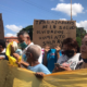 Trabajadores de la salud en protesta