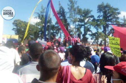 Acto chavista en Ciudad Guayana, estado Bolívar. Foto:Jessica León. Todos Ahora