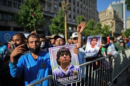 Diego Armando Maradona: velorio. Foto: Cortesía