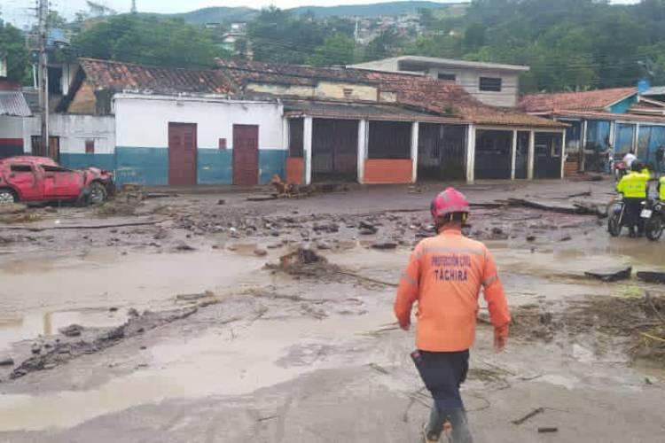 Lluvias en Táchira. Foto: Cortesía