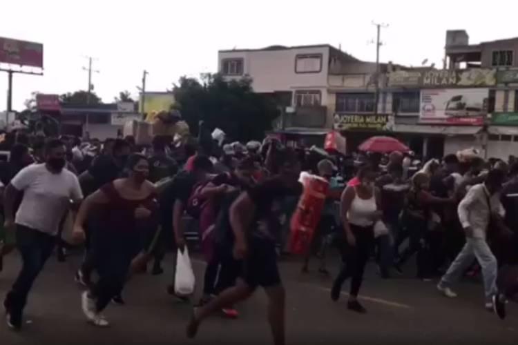 Venezolanos cruzaron a la fuerza la frontera. Foto: Cortesía