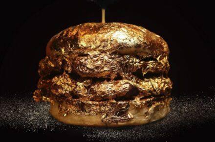 Hamburguesa de oro fue lanzada en Colombia. Foto: Instagram