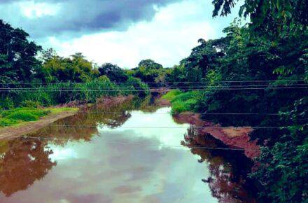 Derrame de petróleo en río de Monagas. Foto: Cortesía