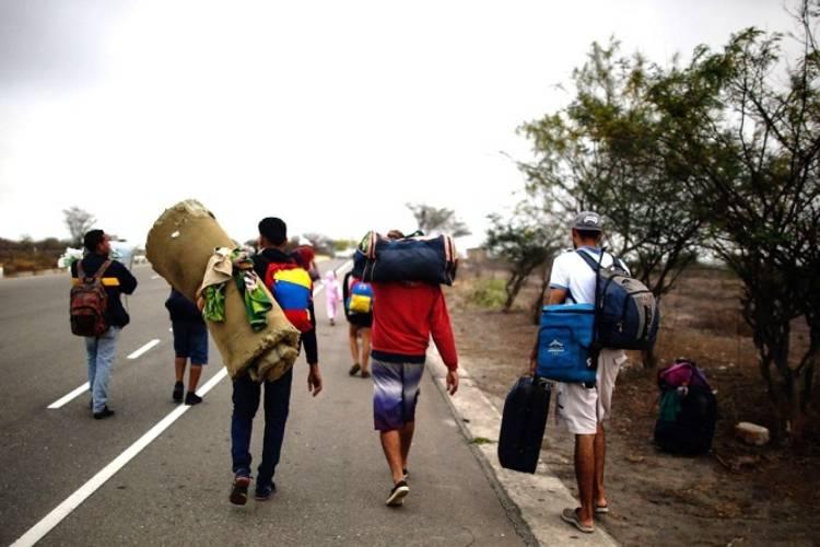 Migrantes venezolanos/ Foto referencial