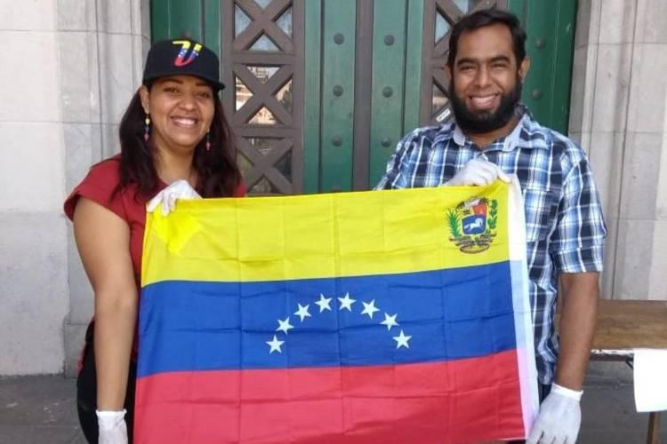 Venezolanos en Buenos Aires, Argentina. Foto: Cortesía