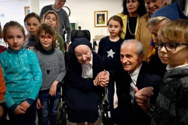Nacida como Lucille Randon, se cree que la hermana Andre es la persona más vieja de Europa (Imagen: AFP / Getty Images)