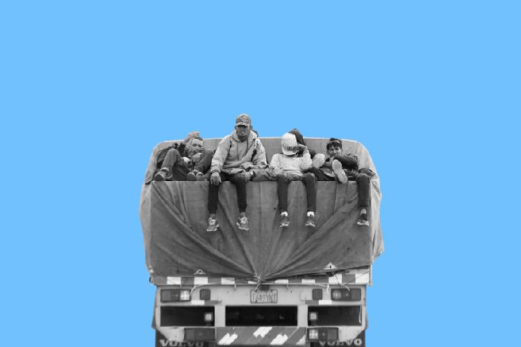 Migrantes expulsados de Chile. Foto: Composición Todos Ahora