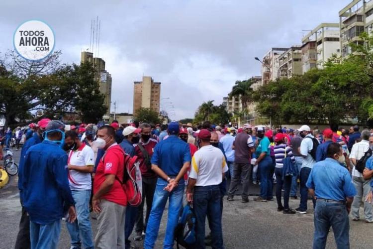 Trabajadores de Guayana. Foto: Jessica León. Todos Ahora