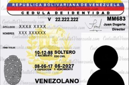 cédula en Venezuela