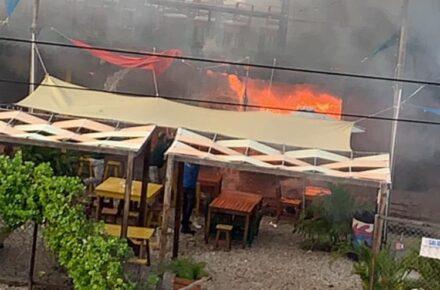 Incendio local Braserito. Foto: Cortesía