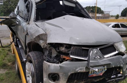 Accidente en Guaparo