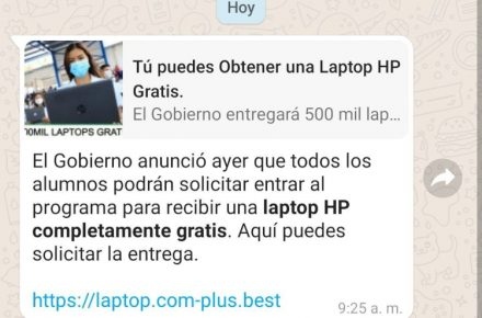 Laptop HP estafa